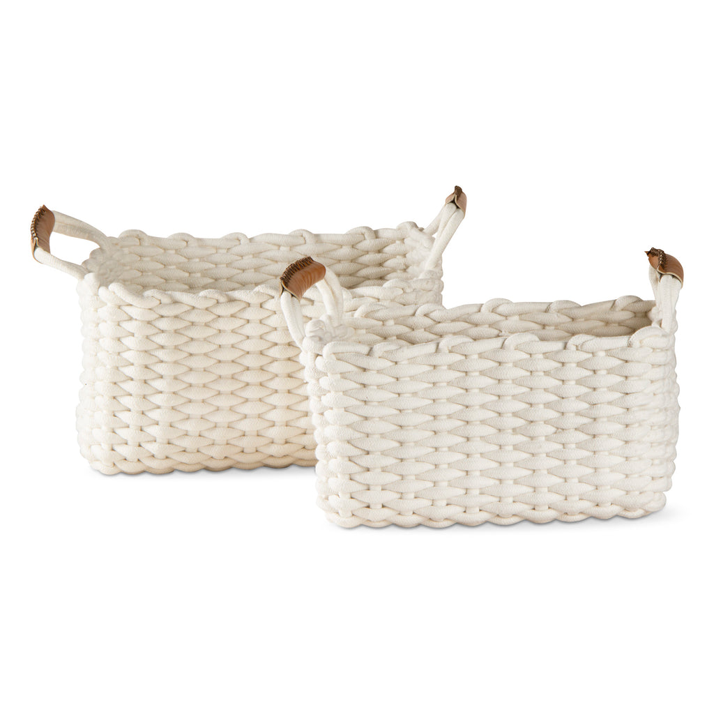TAG Large Rectangular Chunky Knit Basket