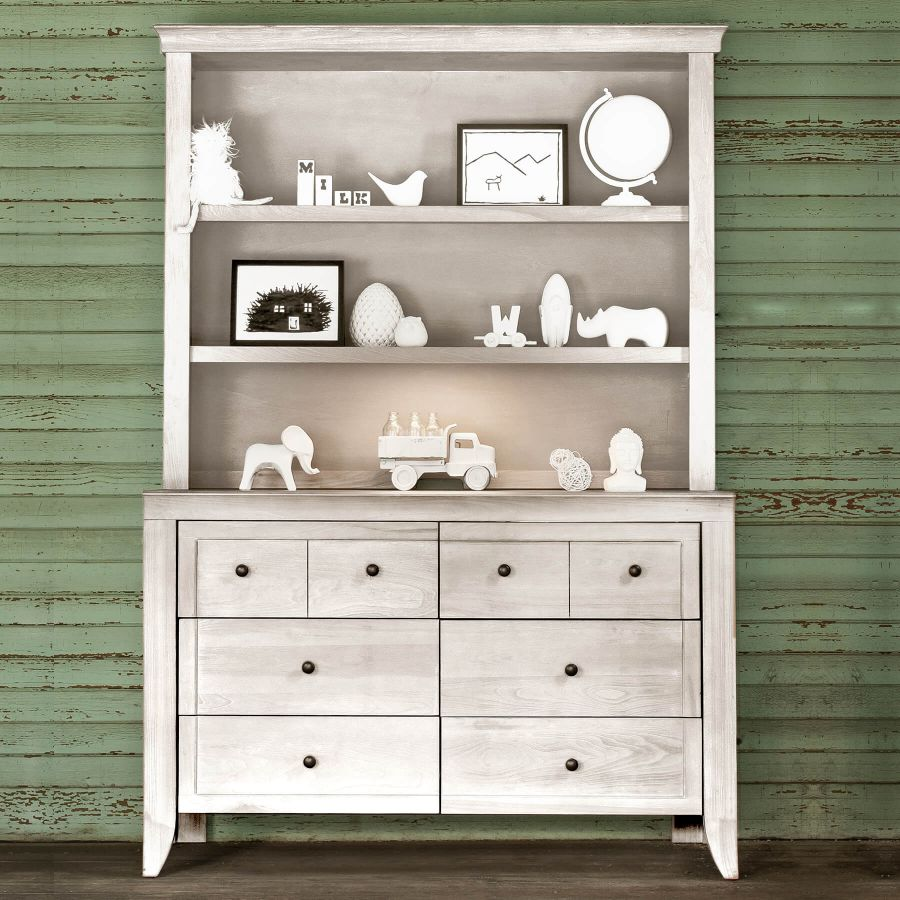 Milk Street Baby Cameo Hutch/Bookcase - Steam