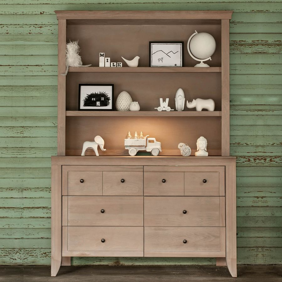 Milk Street Baby Cameo Hutch/Bookcase - Toast