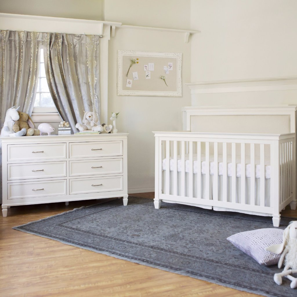 Million Dollar Baby Darlington 4-in-1 Convertible Crib & Double Dresser