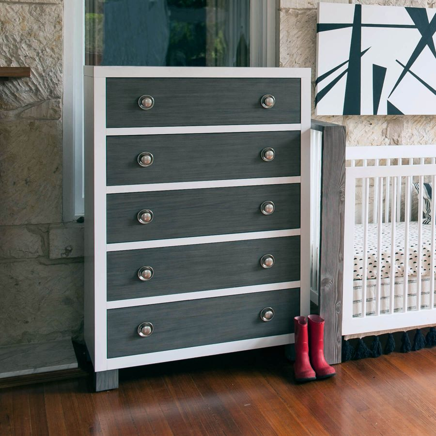 Milk Street Baby True 5 Drawer Dresser - Mud with Snow