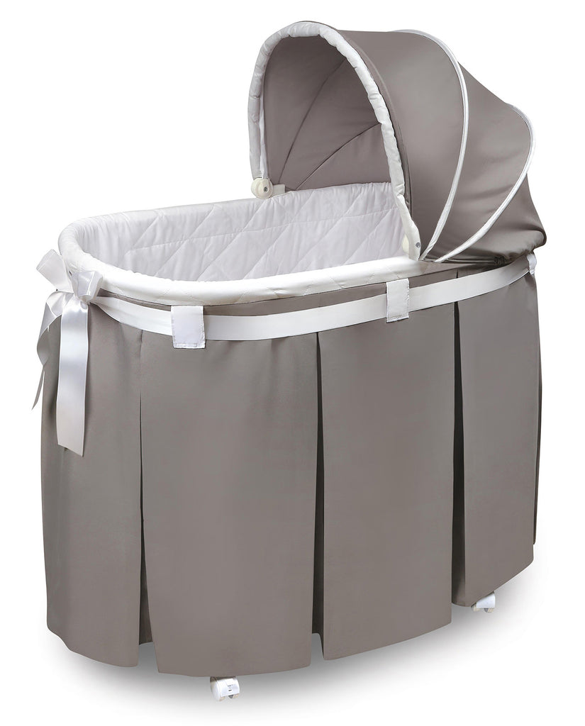 Badger Basket Grey Long Skirt Wishes Oval Bassinet