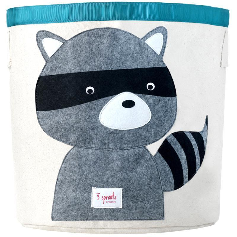 3 Sprouts Storage Bin Raccoon