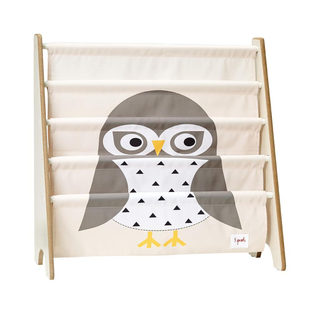 3 Sprouts Book Rack Owl