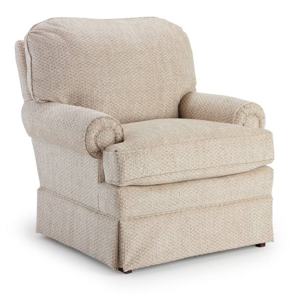 Bella Custom Fabric Nursery Swivel Glider Chair
