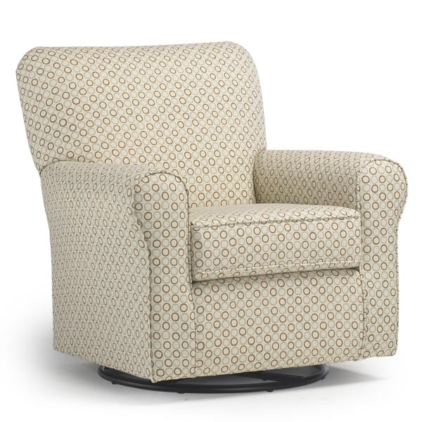 Henry Custom Fabric Nursery Swivel Glider Chair