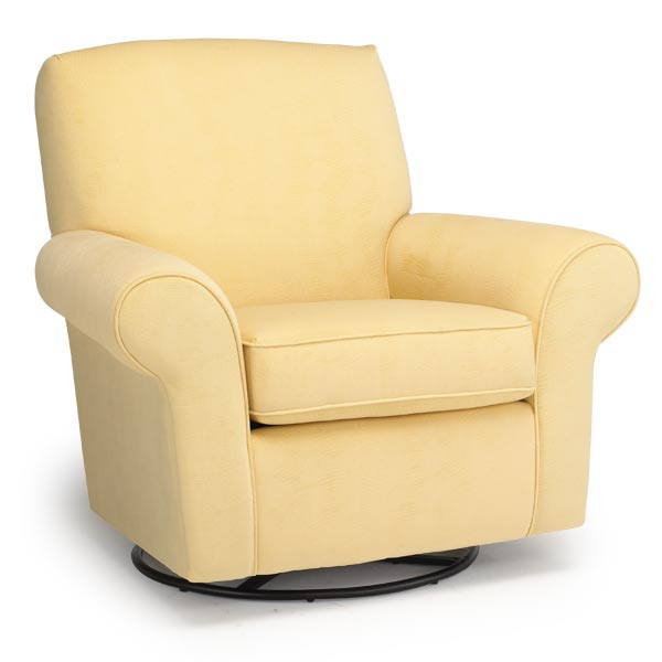 Mia Custom Fabric Nursery Swivel Glider Chair