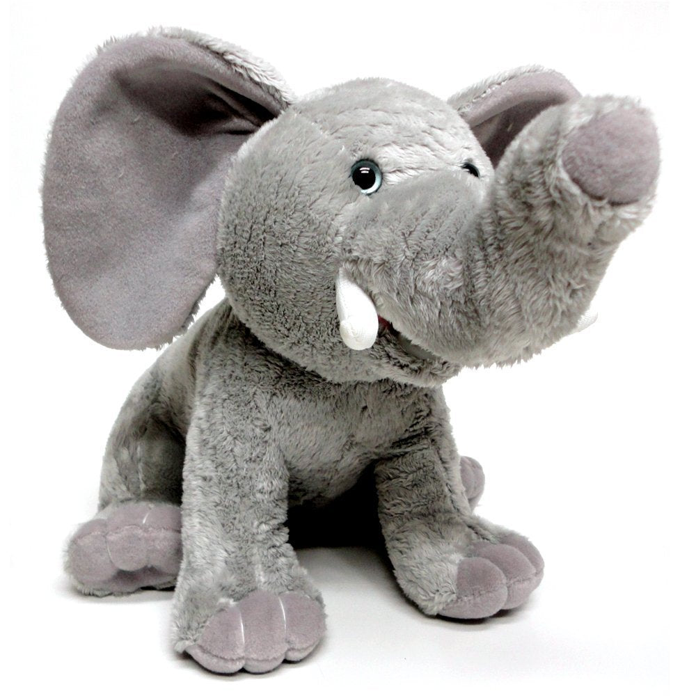 "Cuddle Barn Tusker Elephant 10"" Animated Educational Plush Toy"