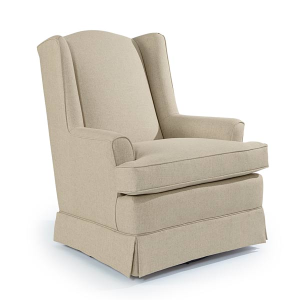 Natalie Custom Fabric Nursery Swivel Glider Chair