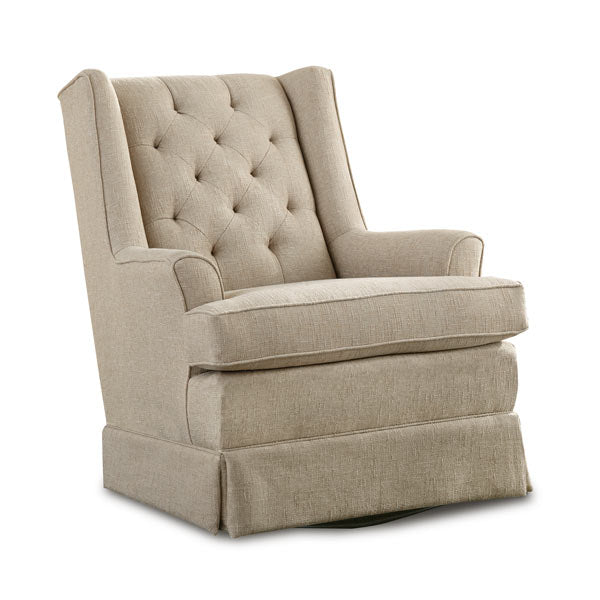 Nathan Custom Fabric Nursery Swivel Glider Chair