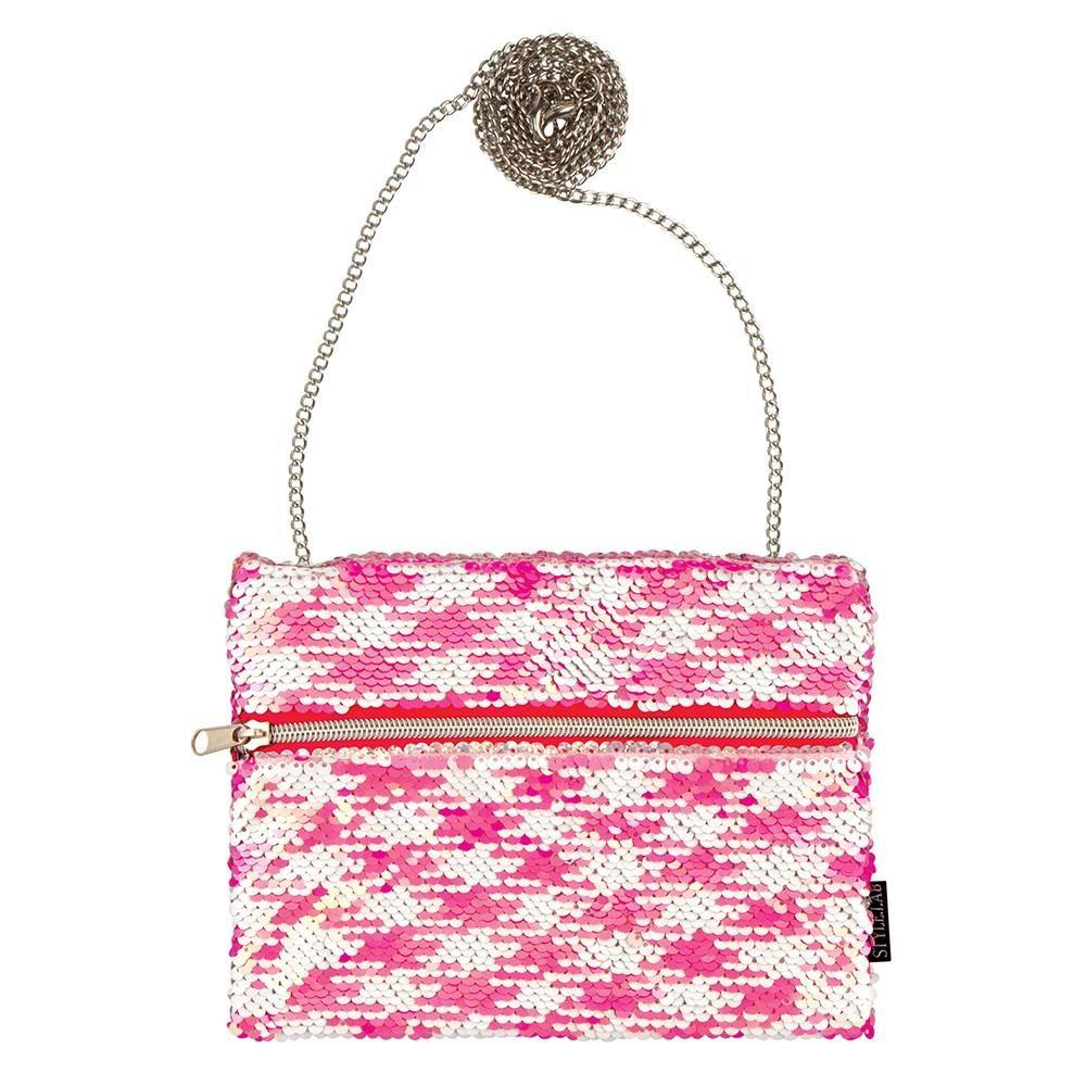 Fashion Angels Pink Pattern Sequin Hip Bag