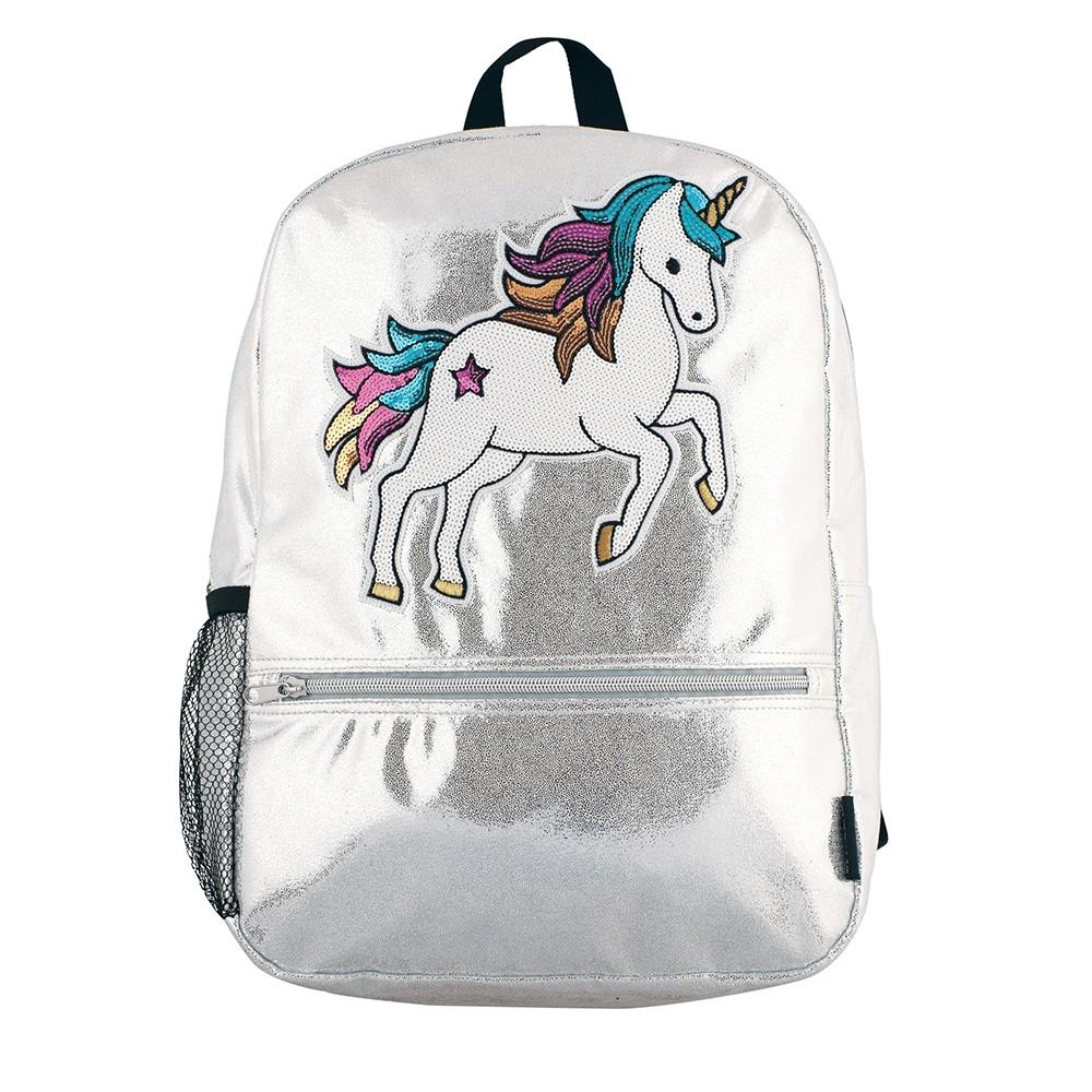 Fashion Angels Silver Shimmer Unicorn Backpac