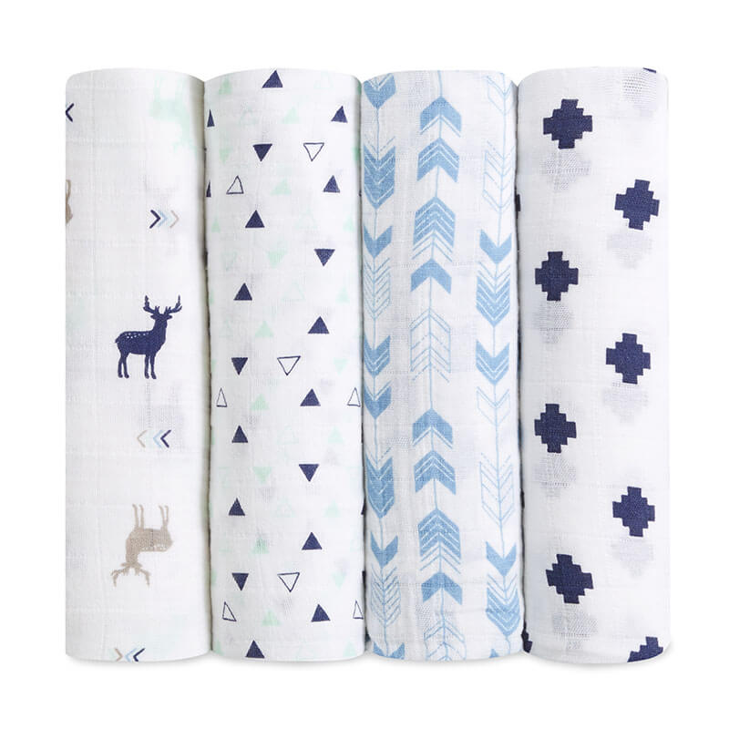 Aden + Anais Brixy Scout 4 Pack Scout Classic Swaddles