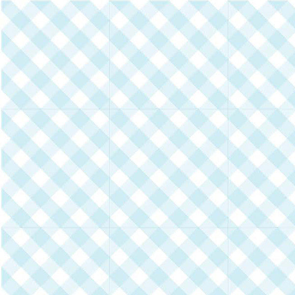 Birchwood Trading Gingham Drawer Liners Blue or Pink
