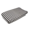 Liz & Roo Plaid (Black & White) Changing Pad Cover