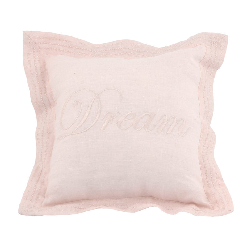 "Blush Pink ""Dream"" Throw Pillow"