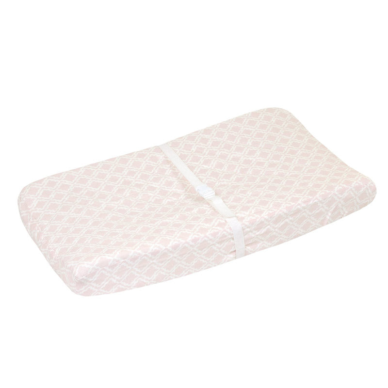 Blush Pink Quilted Changing Pad Cover