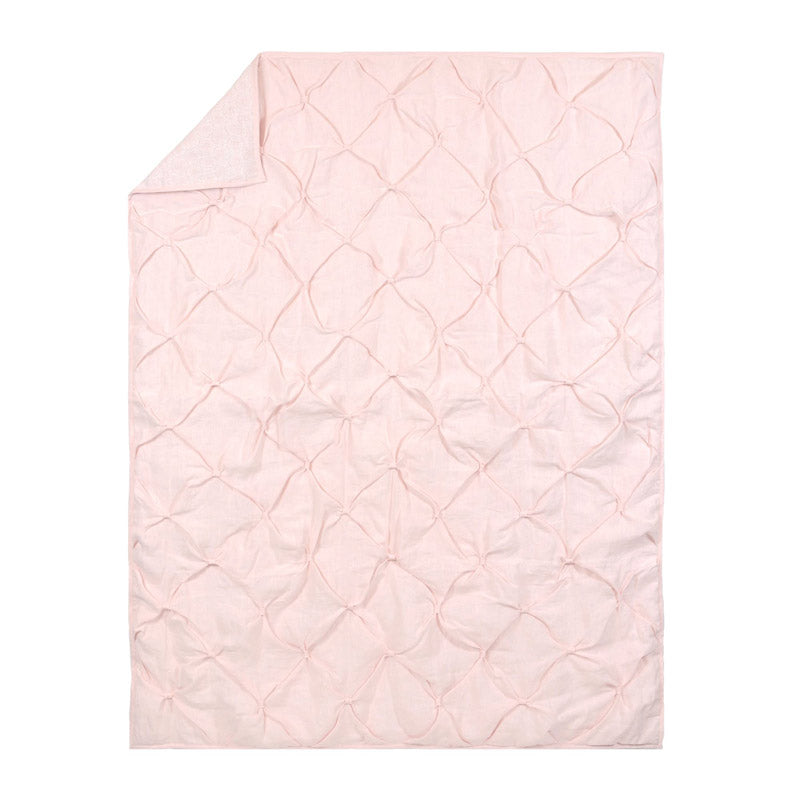 Blush Pink Washed Linen Quilt