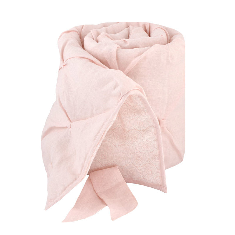 Blush Pink Washed Linen Rail Cover