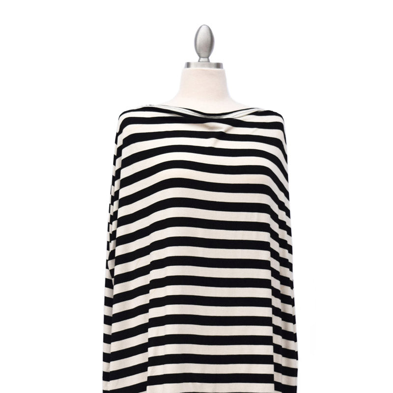 Covered Goods Classic Black & Ivory Stripe 4-in-1 Nursing Cover