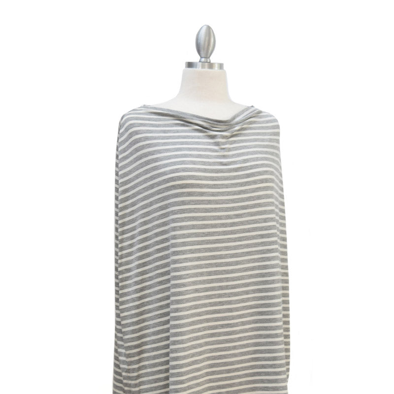 Covered Goods Grey & Ivory Pinstripe 4-in-1 Nursing Cover