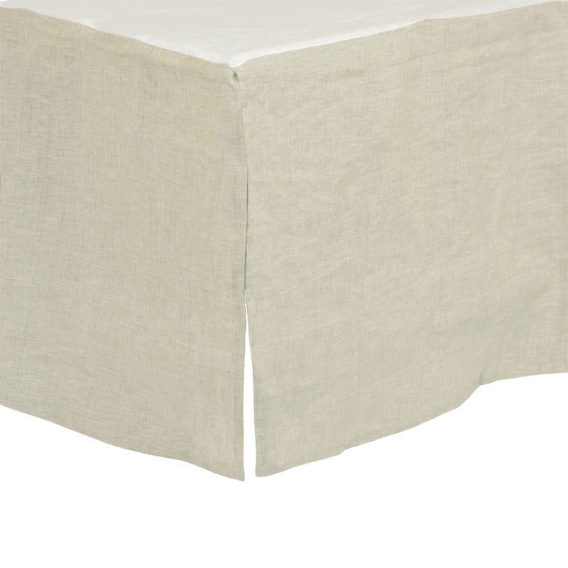Flax Washed Linen Crib Skirt