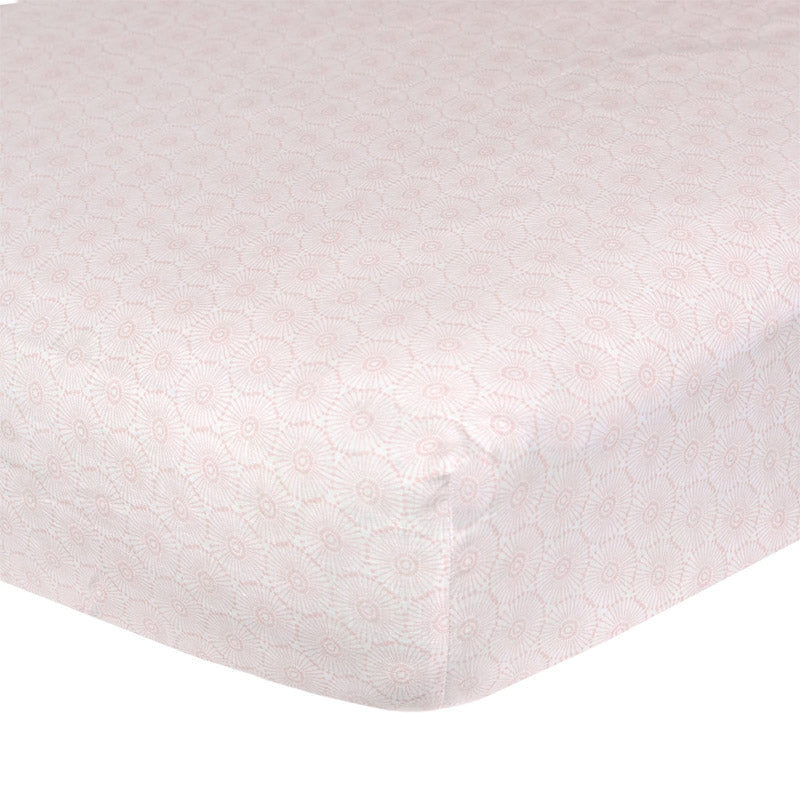 Floral Bloom Washed Linen Crib Sheet