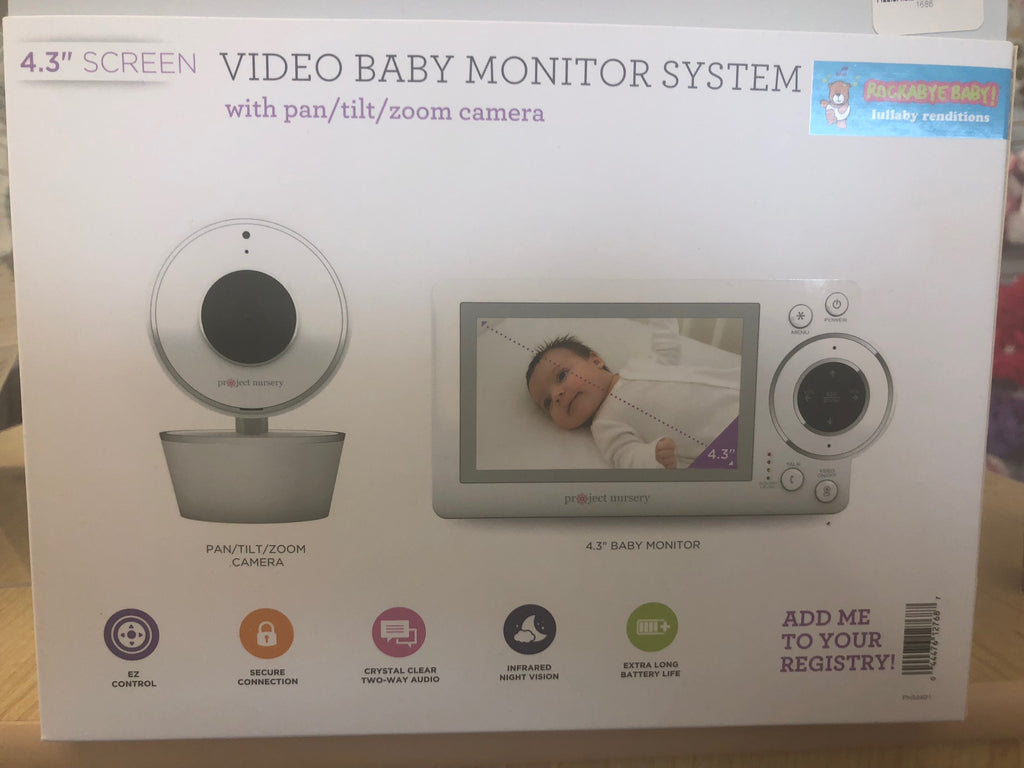 Project Nursery Video monitor System w/pan & Tilt Camera