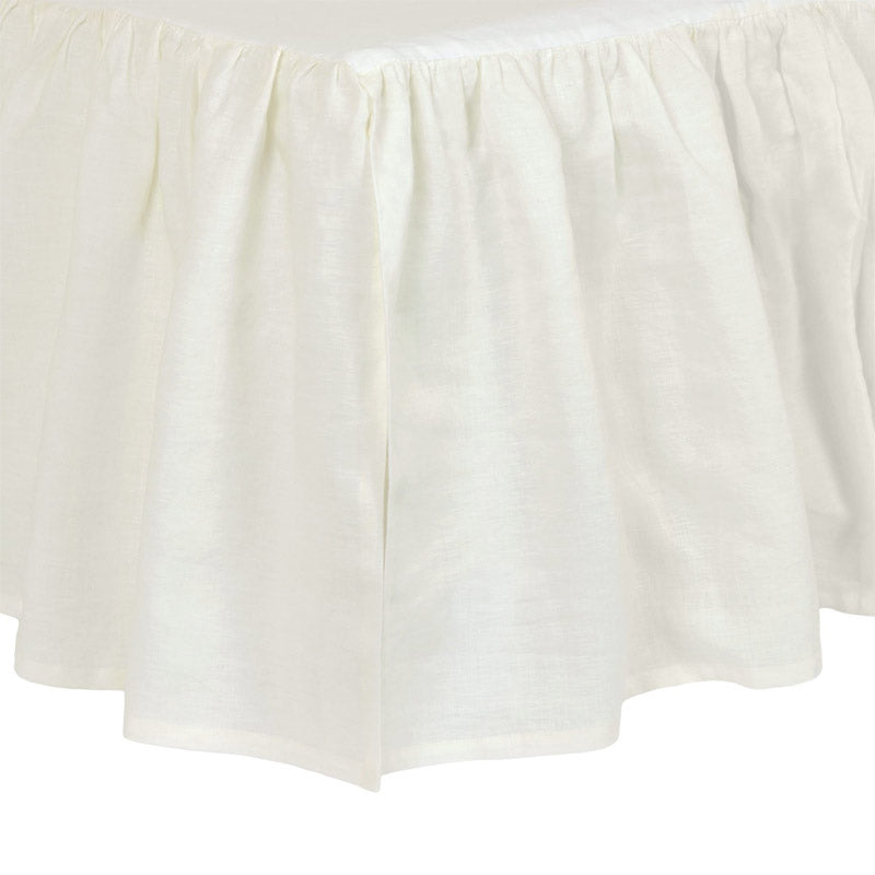 Ivory Washed Linen Crib Skirt