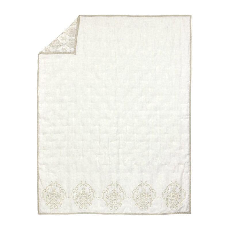 Ivory Washed Linen Quilt