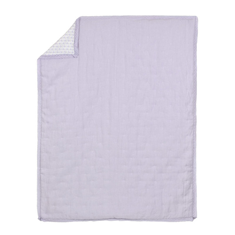 Soft Lilac Washed Linen Quilt