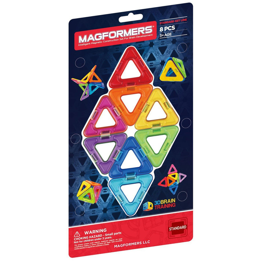 Magformers Rainbow 8-piece Triangle Set