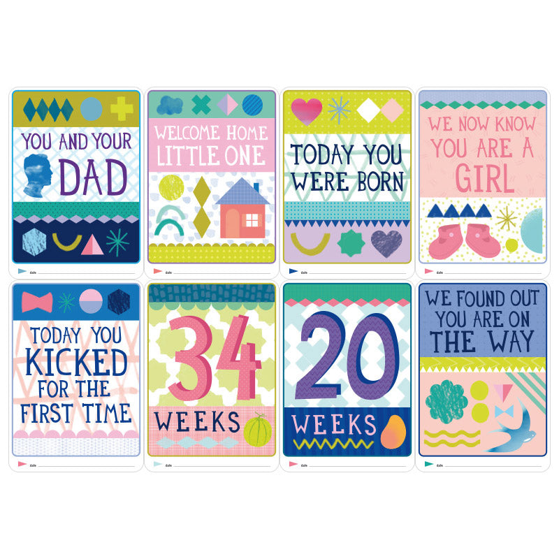 Pregnancy & Newborn Milestone Cards