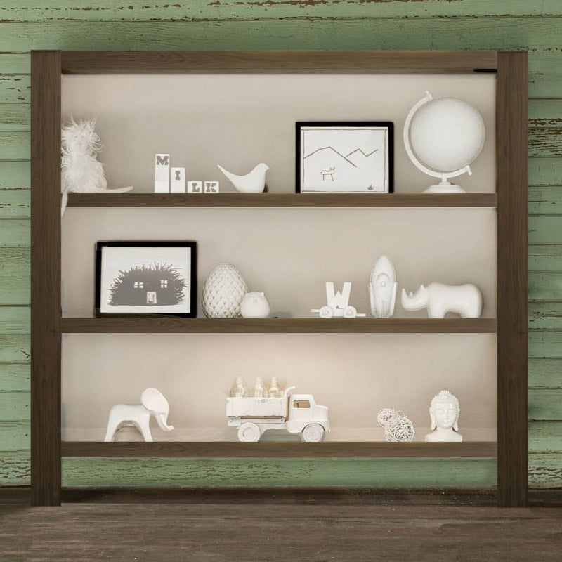 Milk Street Baby True Hutch/Bookshelf - Mud with Snow
