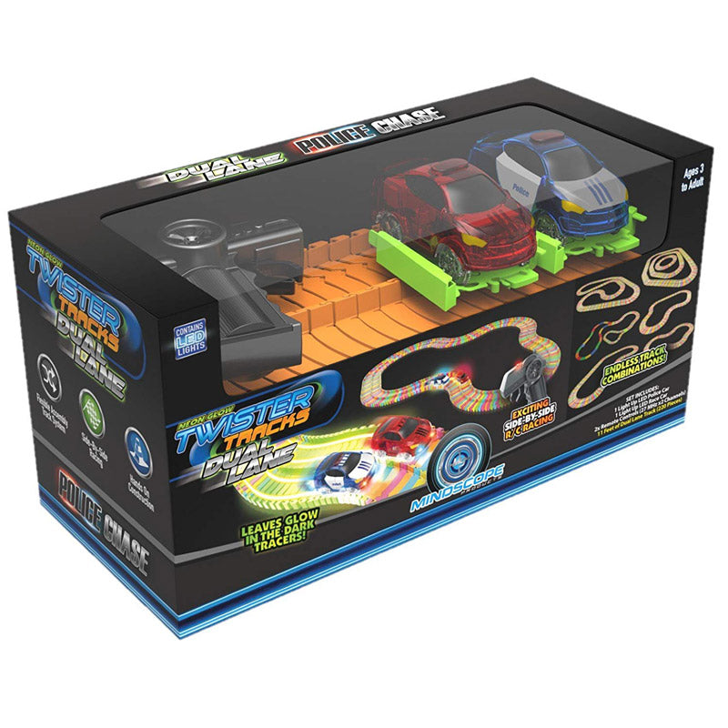 Mindscope Twister Track Dual Lane Police Chase Set