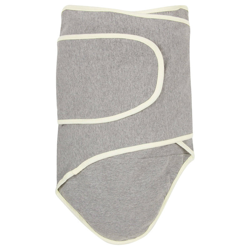 Miracle Blanket - Cloud Gray with Pastel Yellow Trim