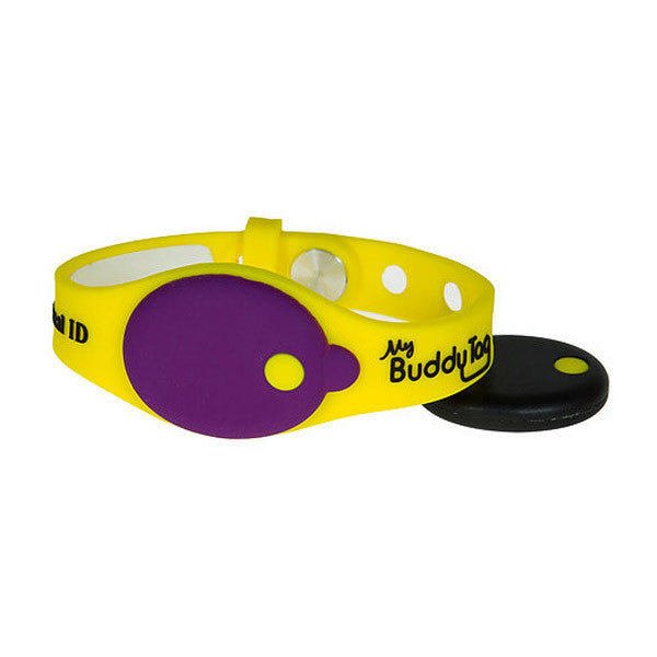 My Buddy Tag Wristband - Yellow/Purple