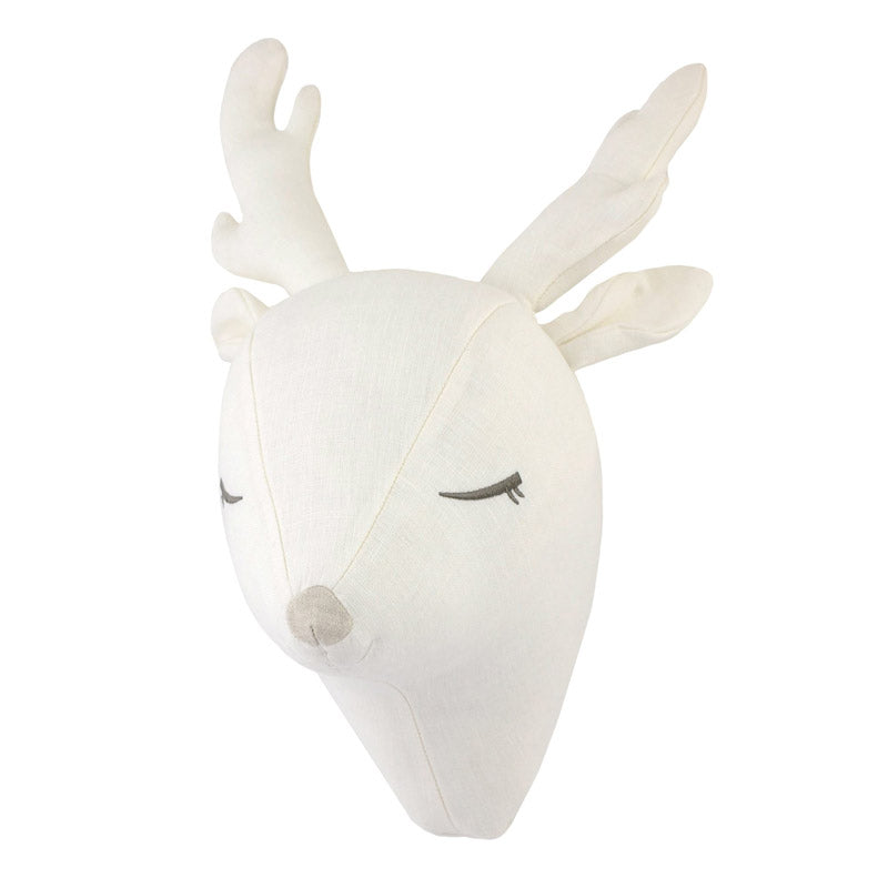 Plush Deer Head Wall Décor