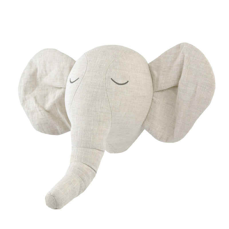 Plush Elephant Head Wall Décor