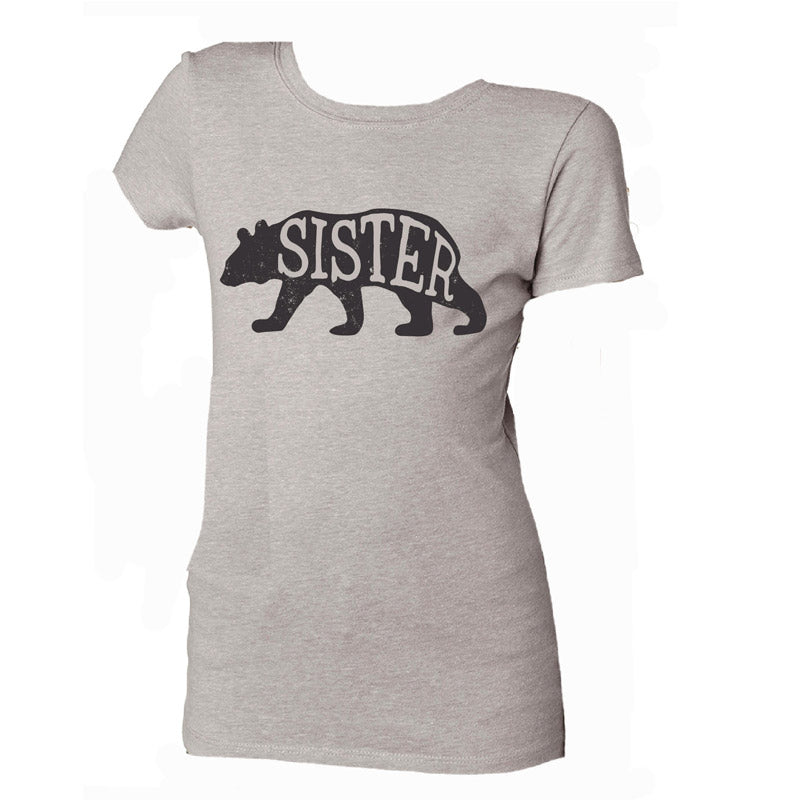 Jane Marie Girls Sister Bear Silk Crew Neck T-Shirt