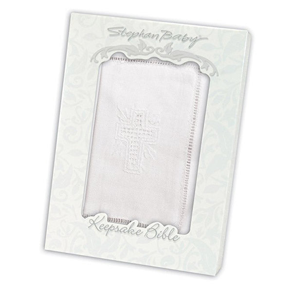 Keepsake Bible with Embroidered Cover and Scalloped Edge