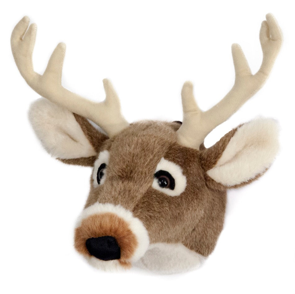 Carstens White Tail Deer Large Plush Trophy Head