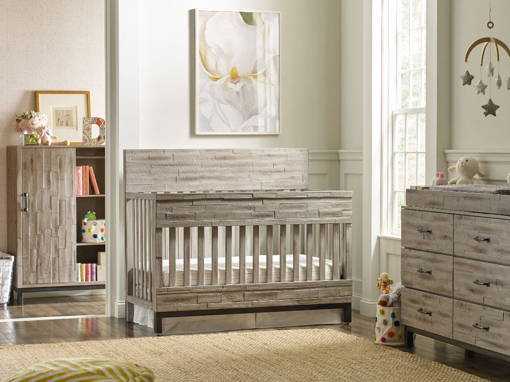 Cullen's Babyland 4 Piece Closeout Collection in Barnwood Grey