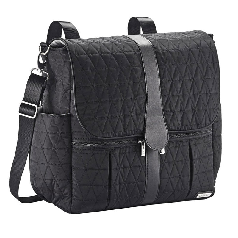 Tomy Back Pack Bag - Black Triangle Stitch