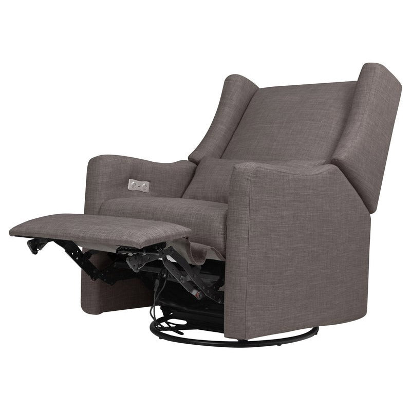 Kiwi Electronic Recliner and Swivel Glider w/usb port - Grey