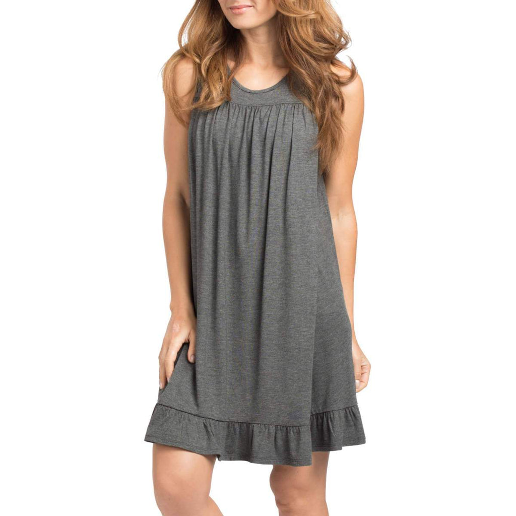 Savi Mom Paris Maternity/Nursing Nightgown - Charcoal