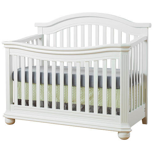 Sorelle Vista Elite 4-in-1 Convertible Crib with Changer - White