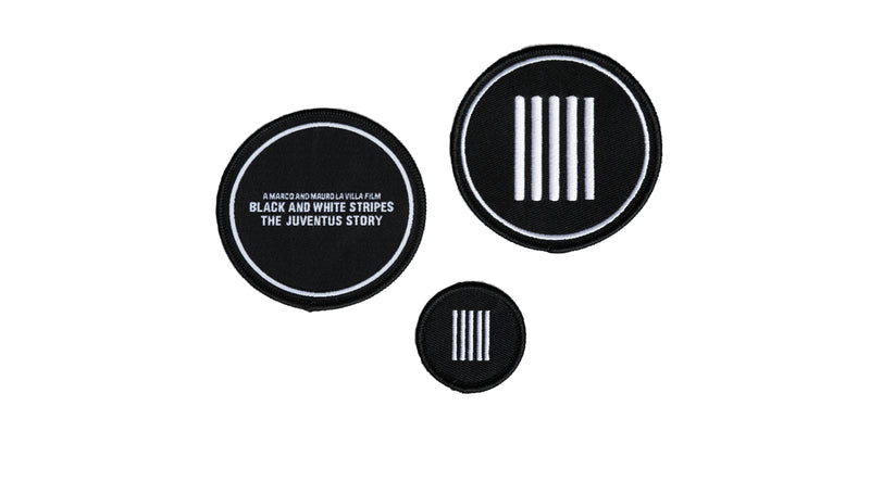 Black and White Stripes Official Patches [3 Pack]