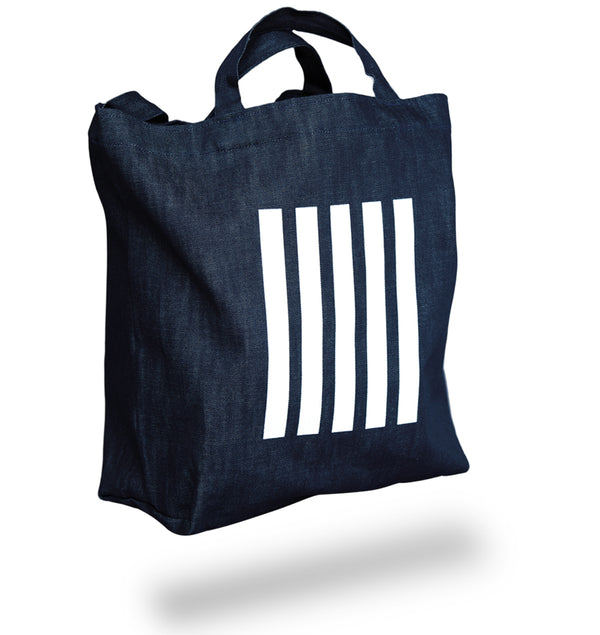 Black and White Stripes X Brooklyn Denim Co. Denim Tote * FILM INCLUDED WITH PURCHASE