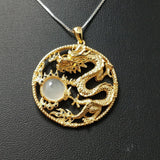 18k Gold Plated  Chinese  Dragon Pendant